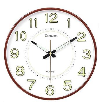 Xifande Reloj De Pared Luminoso Simple Reloj De Pared Silencioso Creativo Moderno De La Personalidad Reloj De Pared Digital Atmosférico Casero Moderno De La ...