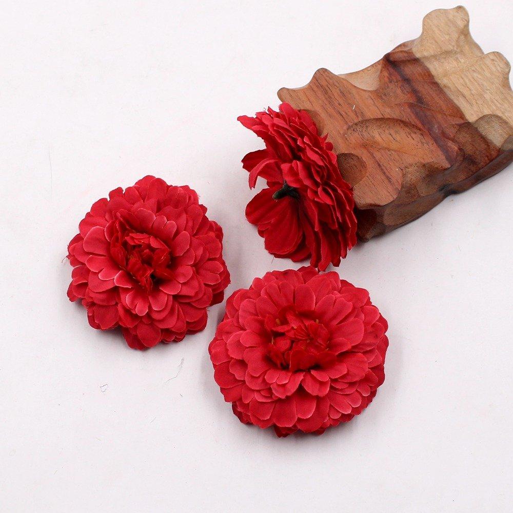 Marigold Fake Flower Heads Bulk Silk Artificial Flowers Wedding
