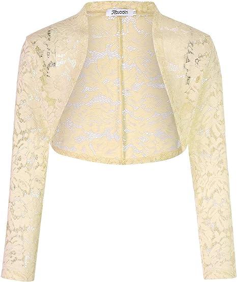 KOJOOIN Donna Lavorato a Maglia Cardigan Corto Elegante a Maniche Lunghe Dress Coat Bolero Shrug Cover Up