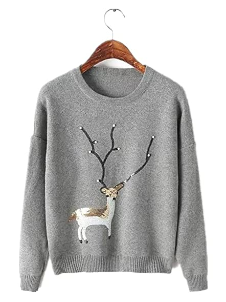 Season Show Womens Embroidered Knitted Sweater Tops Cute Pullover ...