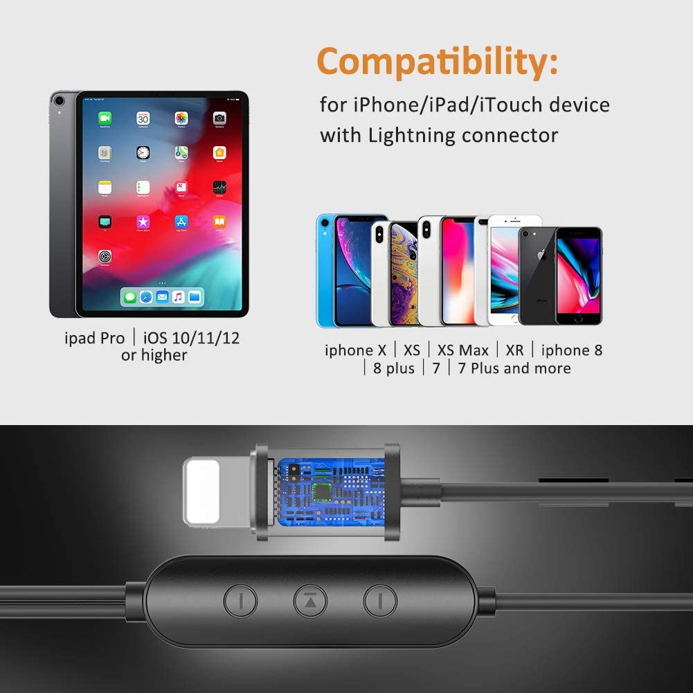 Amatage Headphones for iPhone, Earphones with Mic and