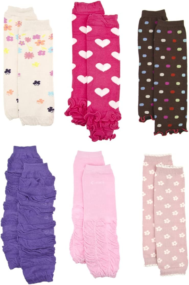 Baby Girl Toddler Pink Purple Polka Dot Leg Warmers Socks Clothing