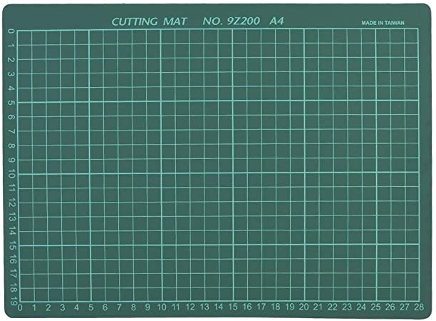 Napacoh A4 Cutting Mat Cutting Board PVC Non-Slip Cutting Board Mouse Pad DIY Art Carving Mat Stationery Tool Blue