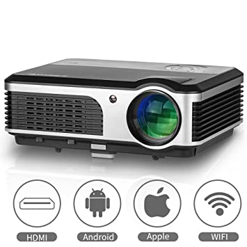 EUG Smart Home Cinema LED LCD WiFi Proyector HD Online TV Video ...