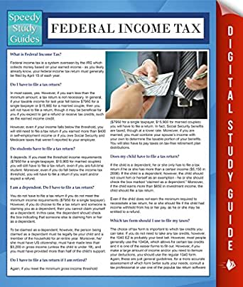 Federal tax study guide