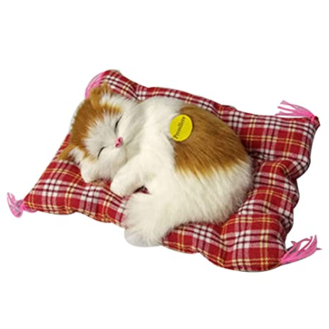 TrifyCore Simulación Linda de los Gatos el Dormir Adornos Juguete de Peluche Juguete Gato Gatito Home