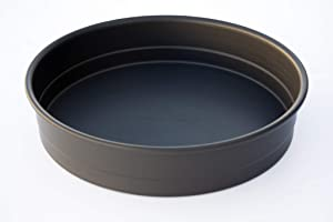 LloydPans 7x2.25 inch Deep Dish Pizza Pan, Pre-Seasoned PSTK, Self Stacking