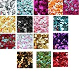 3mm Mini Tiny flat SEQUINS BLACK Gold Colors. Loose sequins for embroidery, applique, arts, crafts and embellishment