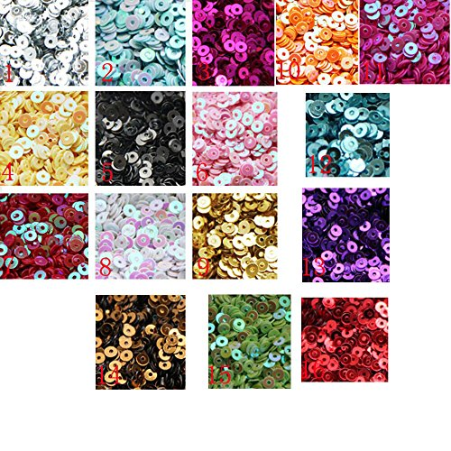 3mm Mini Tiny Flat Sequins Black Gold Colors. Loose Sequins for Embroidery, Applique, Arts, Crafts and Embellishment - Flat Loose Sequins