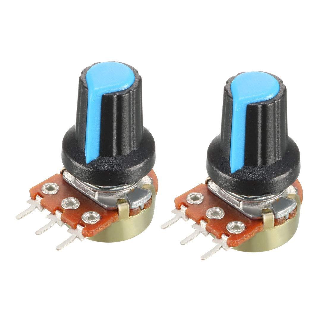 uxcell 2Pcs 5K Ohm Variable Resistors Single Turn