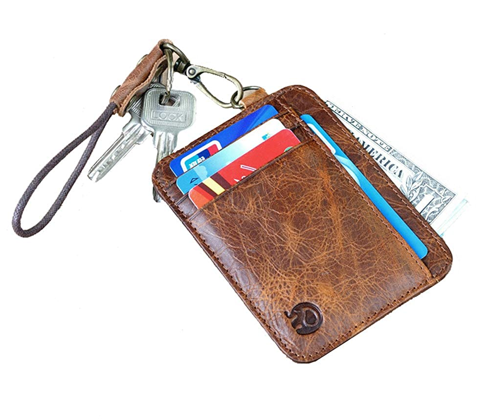 cde7758262bd AnnabelZ Card Holder Genuine Leather Slim Front Pocket Wallet Credit ...