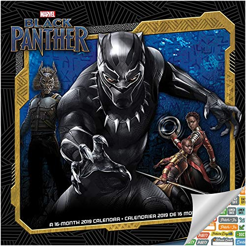 - Black Panther Calendar 2019 Set - Deluxe 2019 Black Panther Calendar with Over 100 Calendar Stickers (Black Panther Gifts, Office Supplies)