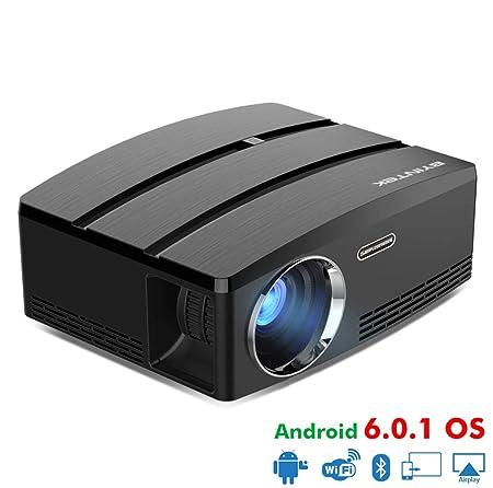 WF Proyector 3D HD, Mini LED 1800 Lúmenes Control Remoto Android ...