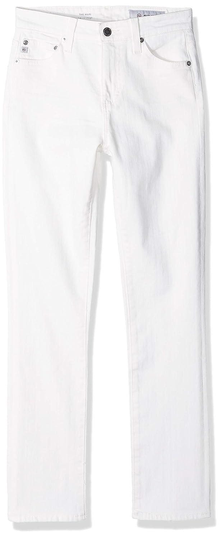 1 Year Tonal White AG Adriano goldschmied Womens Mari Slim Straight Jeans