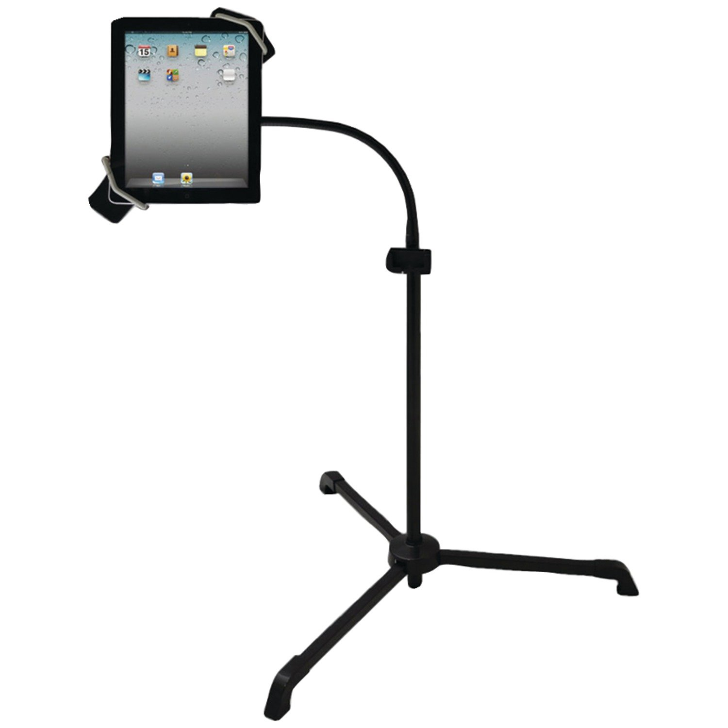 Pyle PMKSPAD2 Universal Tablet PC/Android/Kindle/iPad Floor Stand for Music/Instrument Notes Reading