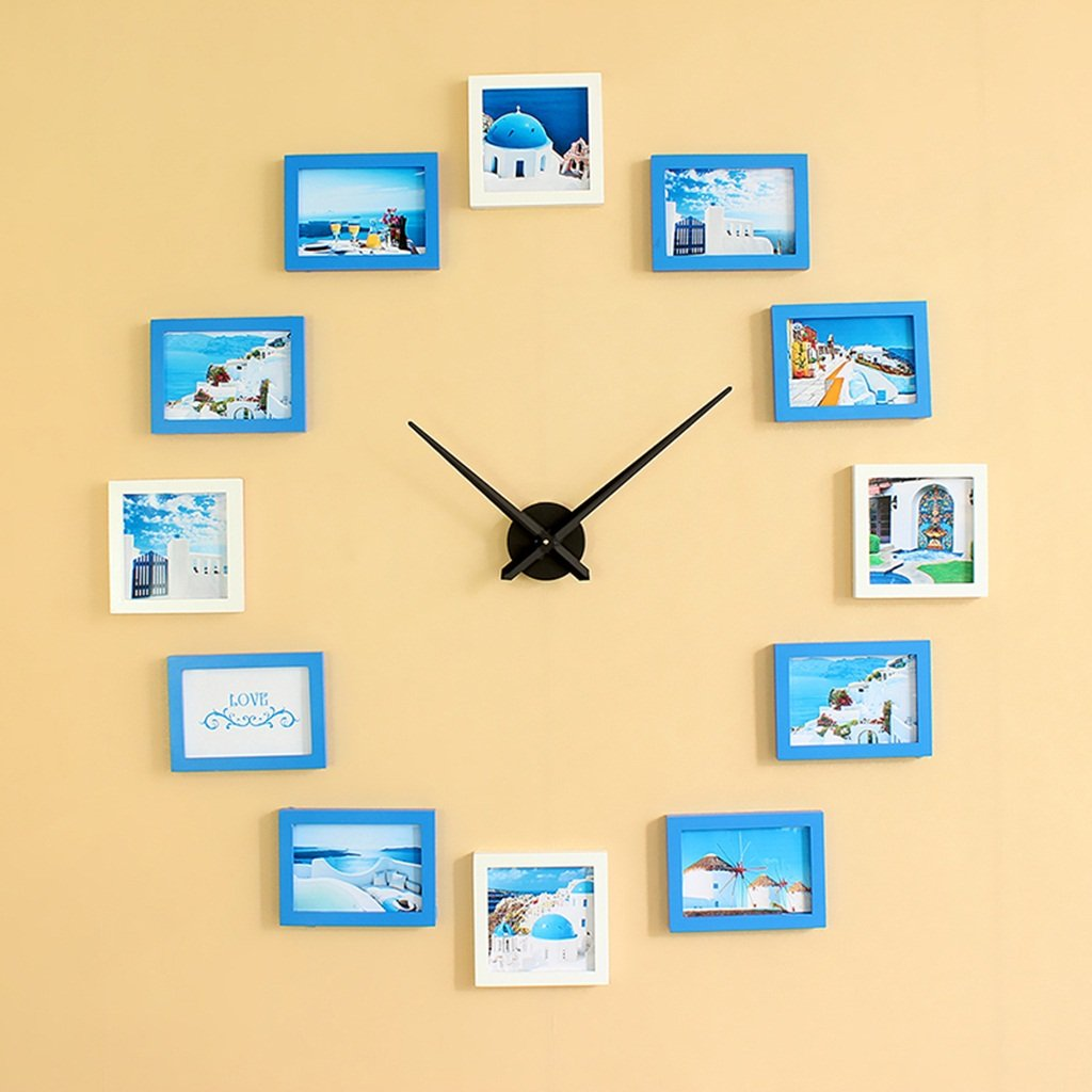 ホーム&時計 DIYフレームクロック、DIYウォールクロック現代デザインDIYフォトフレームクロックプラスチックアート画像クロックユニークなKlokホームデコレーション あなた自身のマルチ写真を作る ( 色 : C ) B07BK5847Y C C