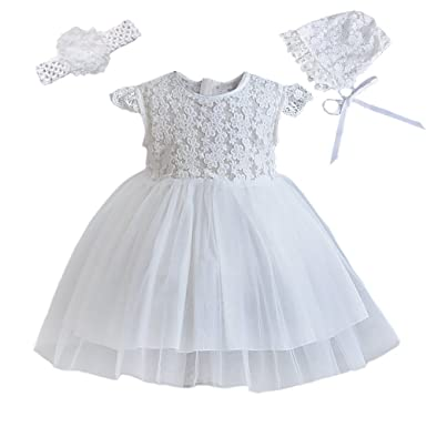 Amazoncom Romping House Baby Girls 3pcs Lace Cap Sleeves