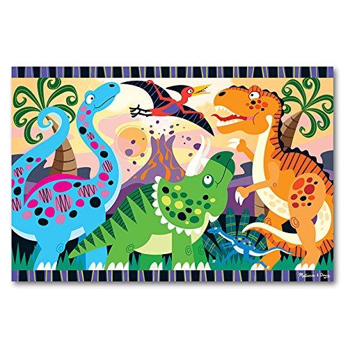 6 Pack MELISSA & DOUG DINOSAUR DAWN FLOOR PUZZLE (Dinosaur Dawn Floor Puzzle)