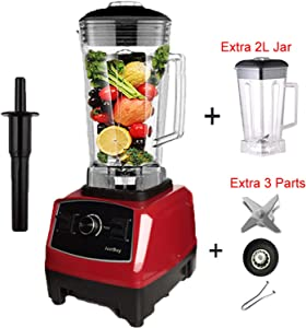2200W Heavy Duty Commercial Blender Professional Blender Mixer,redjarfulllid,AU Plug