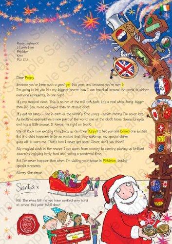 Personalisierte Brief Vom Weihnachtsmann Nikolaus Age 6 Clock