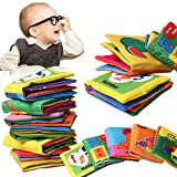 Baby's First Fabric Book Soft Cloth Book(6 PCS),Baby Early Education Development Learning & Activity Toys for Kids Baby