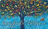 Toland Home Garden Everybirdie Welcome 18 x 30 Inch Decorative Bird Floor Mat Fall Leaves Doormat