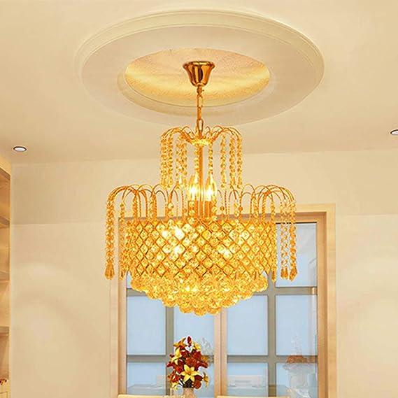 Kronleuchter Kerzen 4 Flamme Modern Rund Gold Kristall LED Luxuriös ...