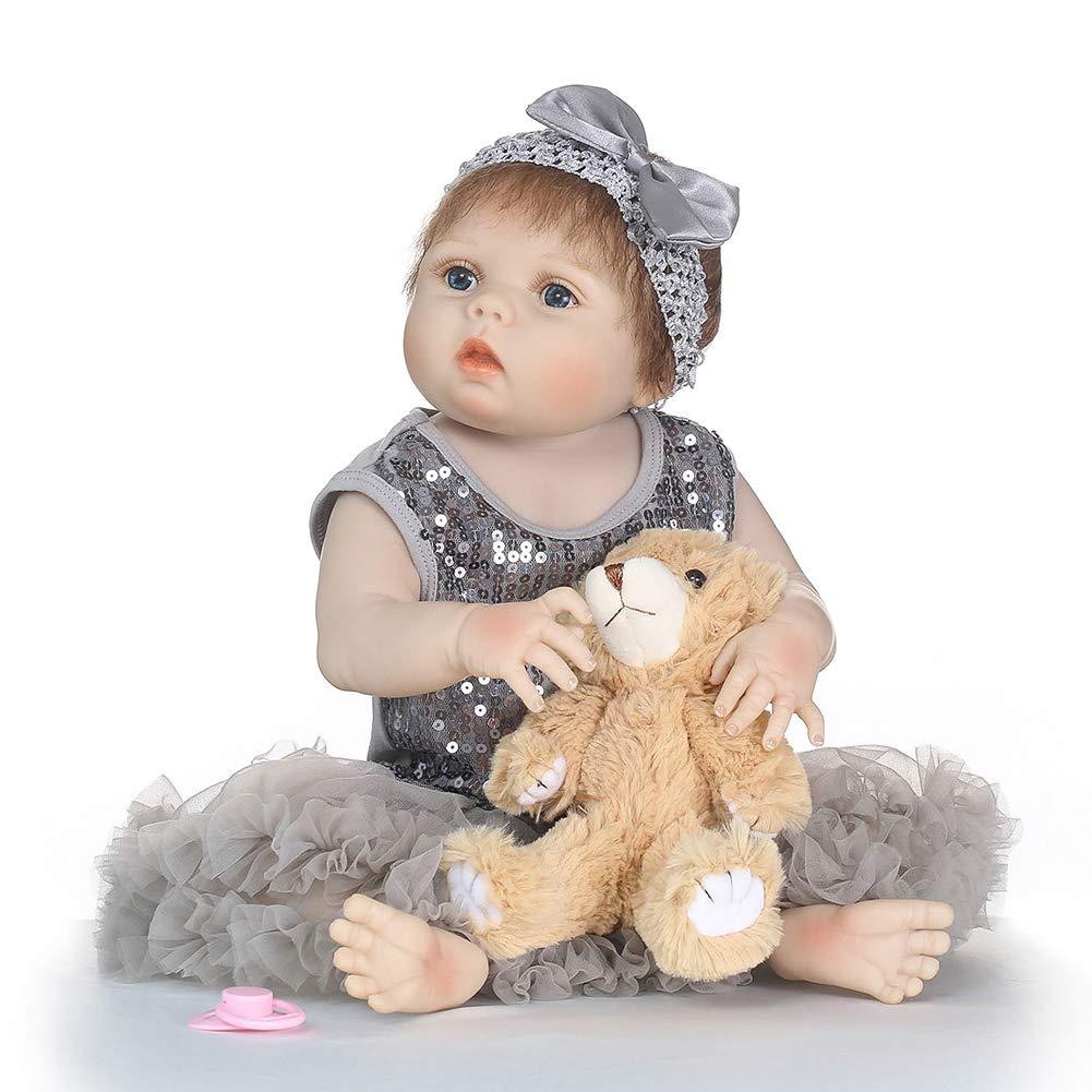 CFPacrobaticS 5cm Lebensechte Reborn Baby mädchen Weiße Vinyl Silikon Puppe Kinder Pretend Play Toy