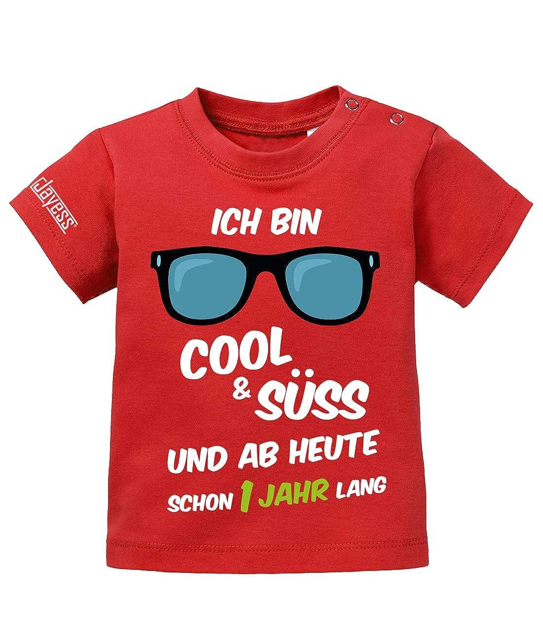 Jayess Baby Shirt M/ädchen zum 1 Geburtstag ich Bin cool und s/ü/ß und ab Heute Schon EIN Jahr lang