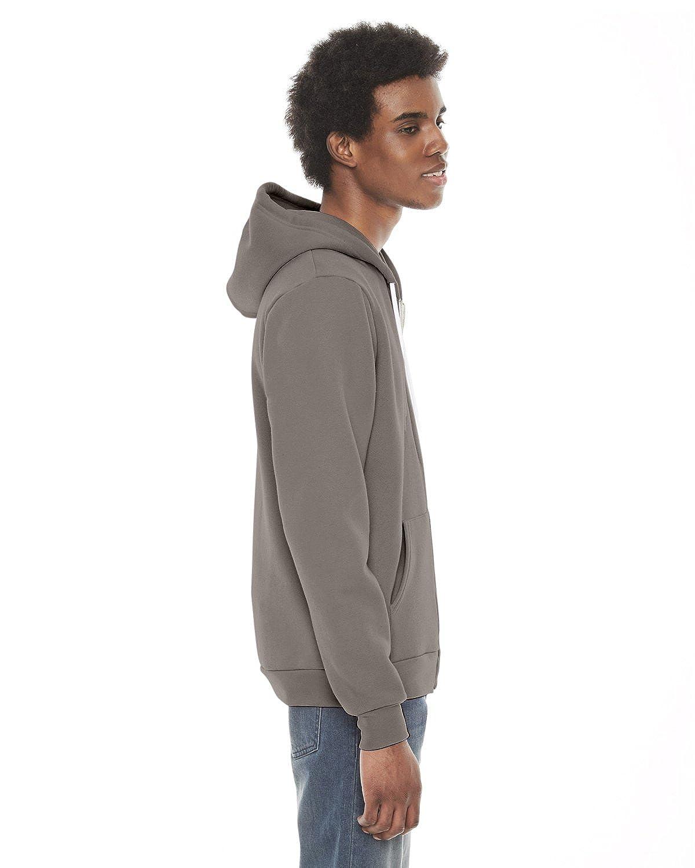 -PEWTER-M-2PK F497 American Apparel mens Unisex Flex Fleece Zip Hoodie