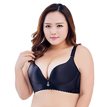 94a3c16107b Liangpin Women Bra Padded Push Up Bralette Plus Size Comfy Plunge ...