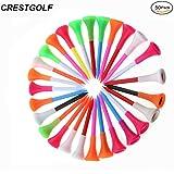 crestgolf 23/10,2cm Coussin en caoutchouc Haut de Golf en Plastique équipement de golf Tee, Lot de 50pièces