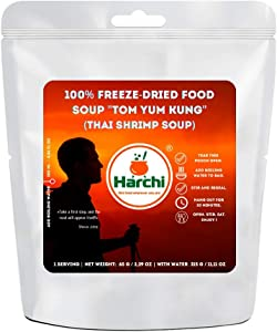 "Harchi 100% Freeze-Dried Food | Soup ""Tom Yam Kung"" (Thai prawn Soup) 
