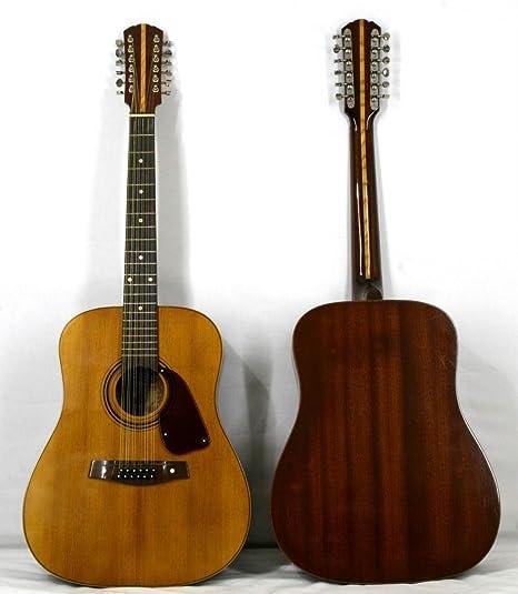 Musikalia luthery Jumbo Folk Guitarra acústica, 12 cuerdas, con ...