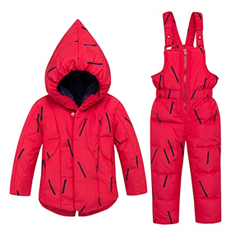 8f8aa00bb7b4 Kids Winter Snowsuit Baby Boys Girls Toddler Snowsuit Winter Warm ...