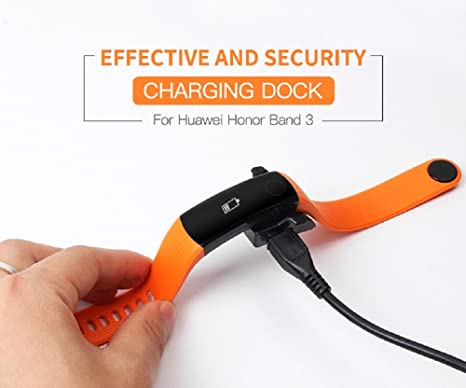 Sikai Huawei Honor Band 3 Chargeur Remplacement Stations de Charge pour Huawei Honor Band 3 (Noir): Amazon.fr: High-tech