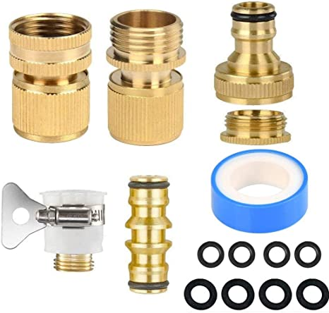 """1//2/"""" FOR BRASS TAPS SET 4 HOZELOCK COMPATIBLE THREADED TAP CONNECTORS 3//4/"""""""