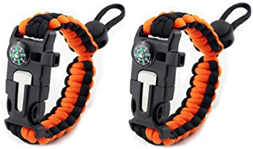 Adjustable Size Fits 8.5-9.5 The Friendly Swede XXL Trilobite Extra Beefy Paracord Survival Bracelet with Stainless Steel Black Bow Shackle Wrists 21.6-24.1 cm