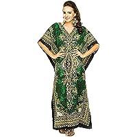 Namoram Floral Print Long Caftan Tunic Dress Nightdress Maxi Kaftan Plus Size Cover up Dresses for Women