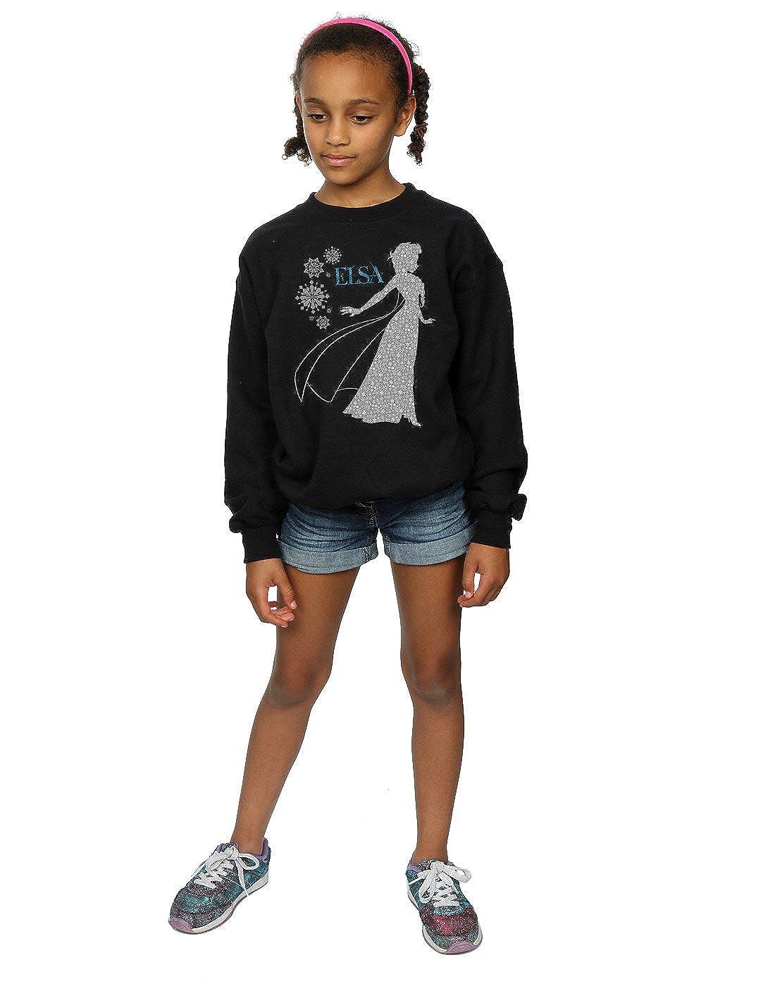 Disney Girls Frozen Elsa Christmas Silhouette Sweatshirt