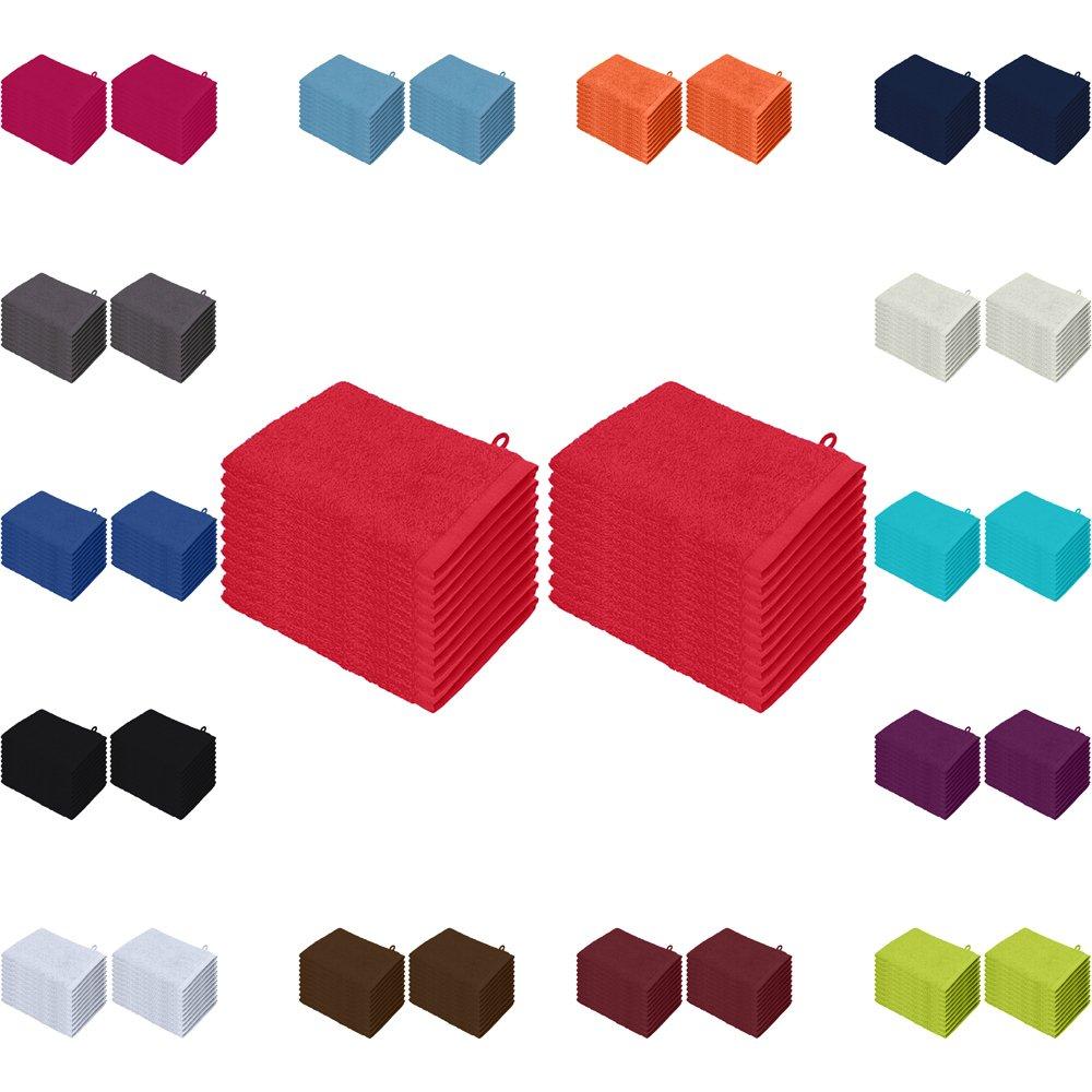 Waschlappen 20er Pack Sparpreis in vielen Farben 15x21 cm 100% Baumwolle Bordeaux Falco