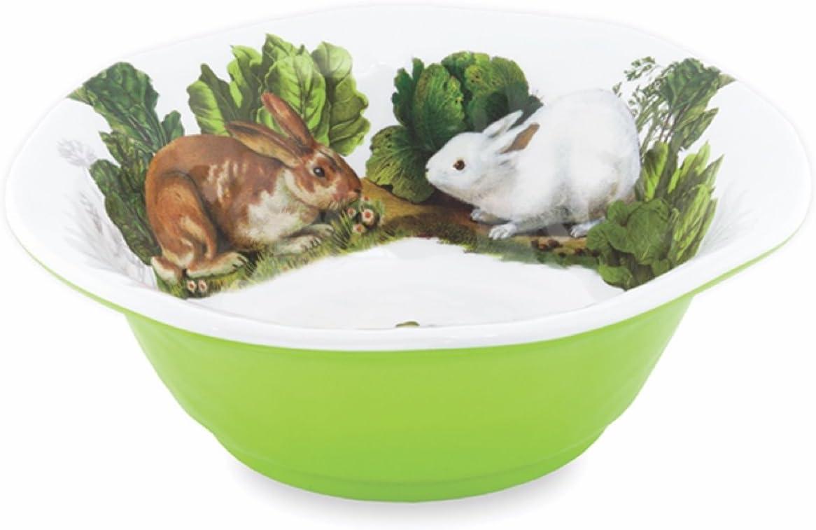 Michel Design Works Melamine Medium Serving Bowl, Garden Bunny
