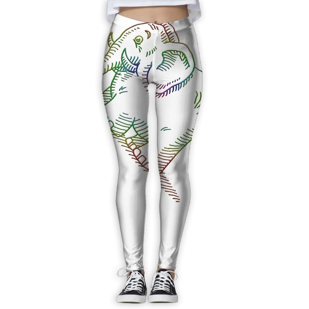 7128b99319d3c Amazon.com: White Elephant Clip Art Elastic High Waist Yoga Leggings For  Women: Clothing