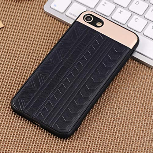 (#52) For compatible with : iPhone 8 & 7 Tyre Track Pattern Protective Back Cover Case(Blue)