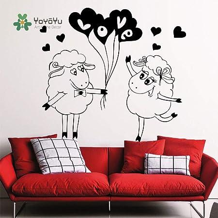 yaoxingfu Arte hogar Dibujos Animados Lindo Amor ovejas ...