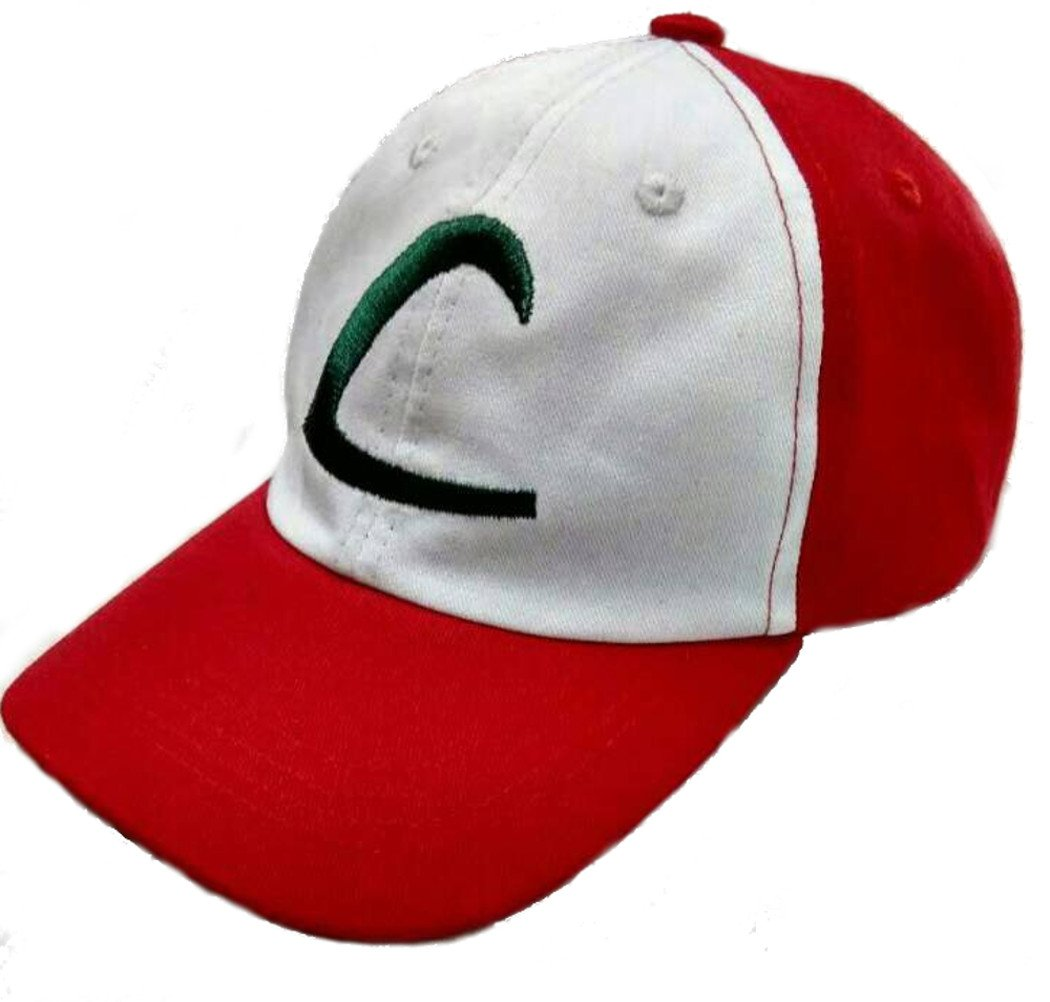 Ash Ketchum Children's Embroidered Hat Costume for Kids, Ages 5-11, 100% Cotton