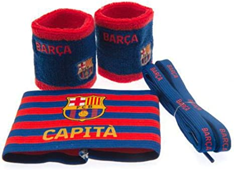 Fc Barcelona Accessories Pack Set de regalo Brazalete Cordones Sudaderas: Amazon.es: Deportes y aire libre