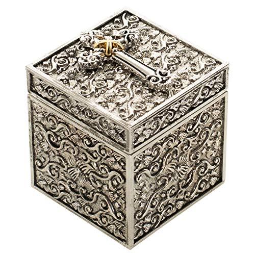 Prayer Box-Keepsake w/Cross 18k Gold Plate (2