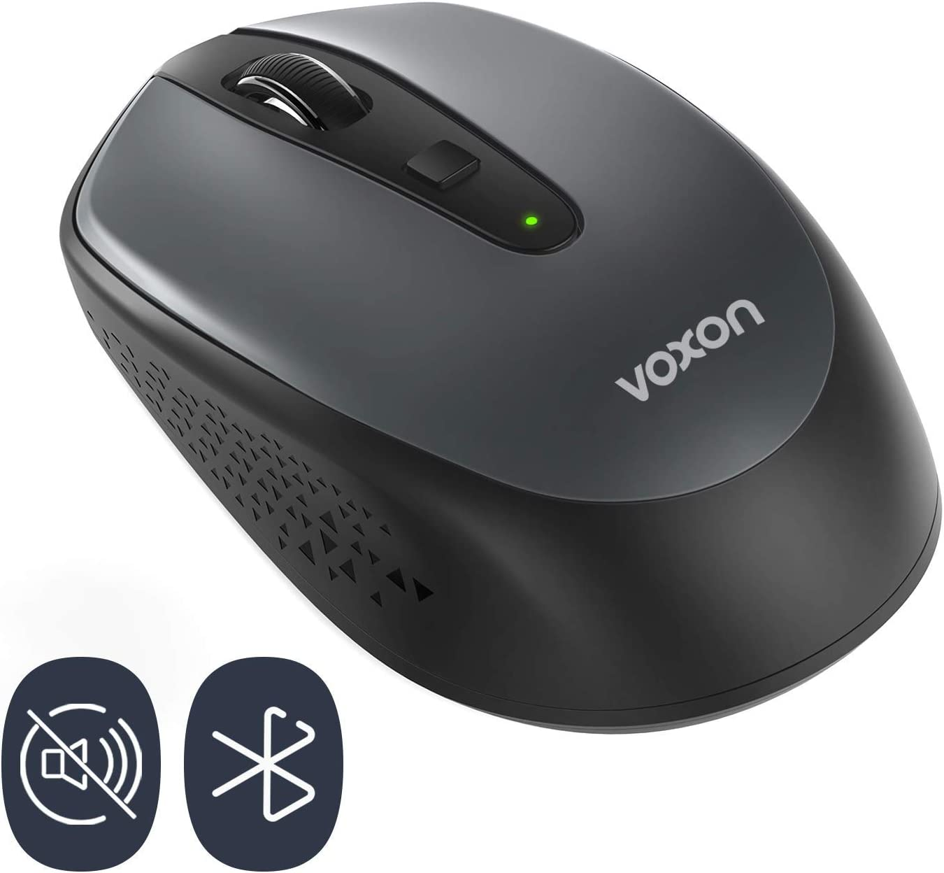 VOXON Small Portable Bluetooth Wireless Mouse ,18 Months Battery Life with Noiseless Click, 3 Adjustable DPI Levels: 1600/1200/800DPI