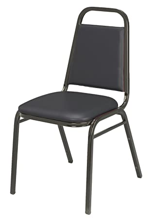 Amazon.com: KFI Seating IM810 Armless Stacking Chair, Commercial Grade,  1.5 Inch, Black Vinyl/Black Frame, Made In The USA: Kitchen U0026 Dining